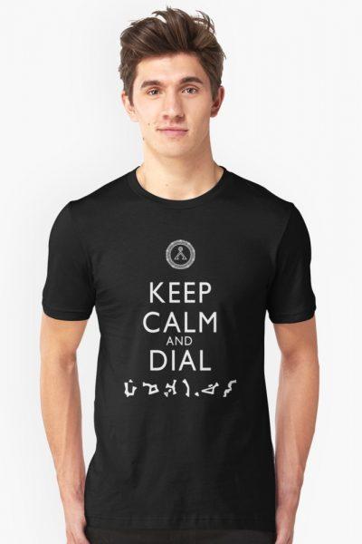 Keep Calm and Dial Earth (white)