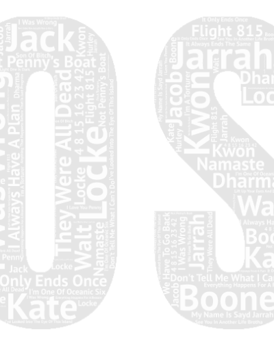Lost word cloud