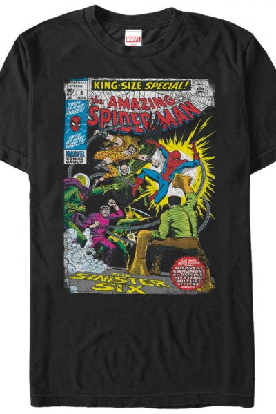 Marvel – Sinister 6 Comic Adult Regular Fit T-Shirt