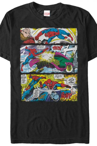 Marvel – Spider Panels Adult Regular Fit T-Shirt
