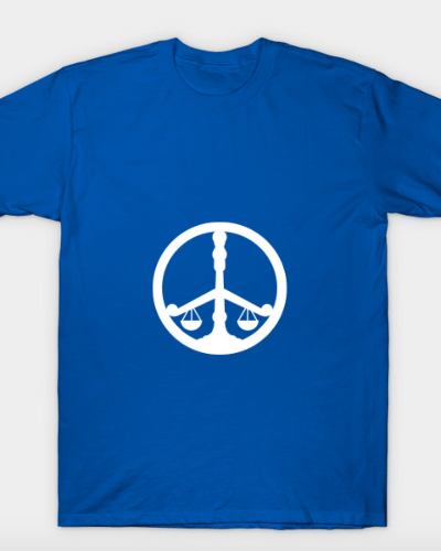 Peace and Justice (white logo) T-Shirt