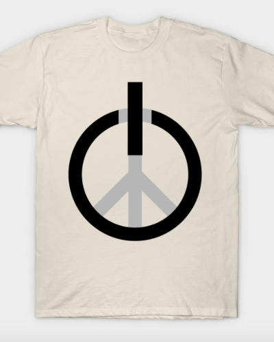 Peace power, press ON T-Shirt