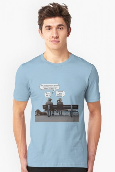 Proof Chemtrails T-Shirt – Funny Conspiracy Satire