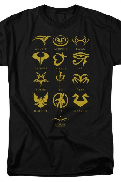 Sg1 Goa'uld Characters Adult Regular Fit T-Shirt