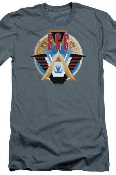 Sg1 Sgc Logo Premium Adult Slim Fit T-Shirt