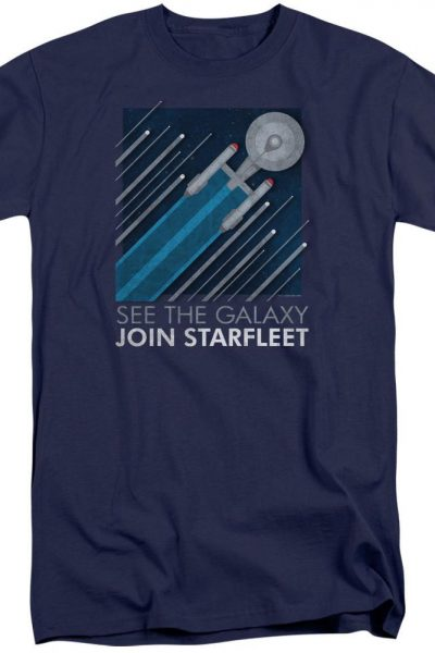 Star Trek Starfleet Recruitment Poster Adult Tri-Blend T-Shirt