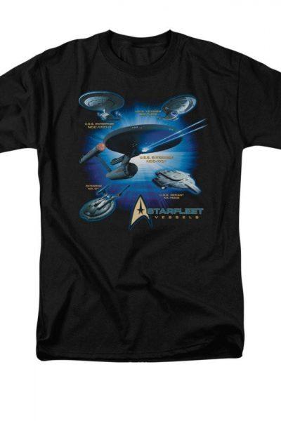 Star Trek – Starfleet Vessels Adult Regular Fit T-Shirt