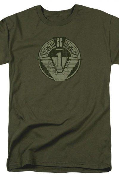 Stargate Sg1 Distressed Adult Regular Fit T-Shirt