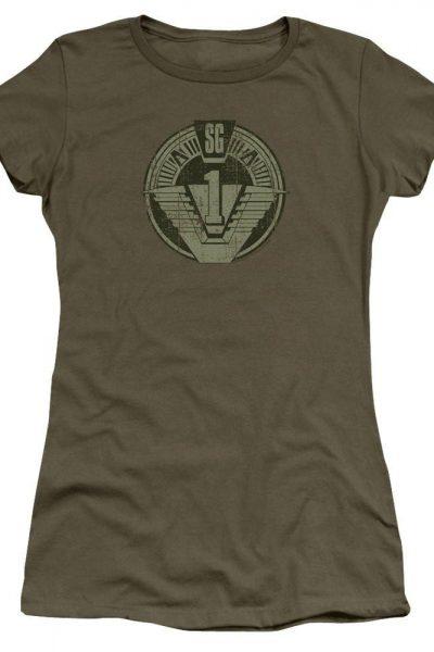 Stargate Sg1 Distressed Junior T-Shirt