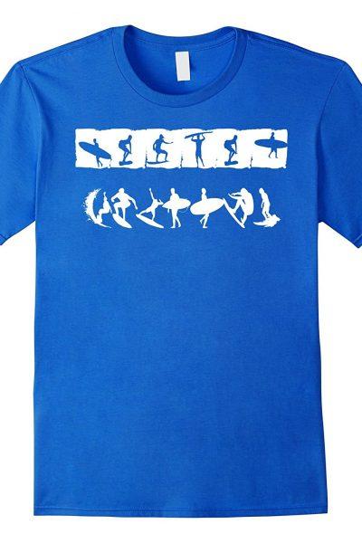 Surfing Hieroglyphs Beach Bum T-shirt