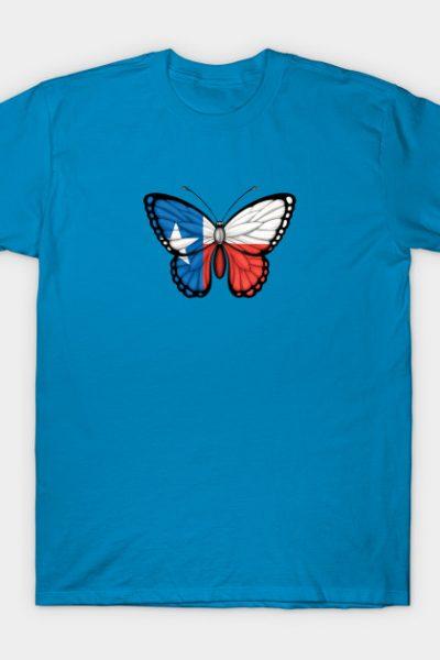 Texas Flag Butterfly T-Shirt