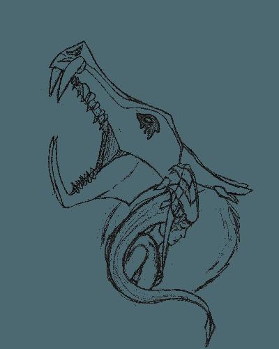 The Half-Dragon – sketch version T-Shirt
