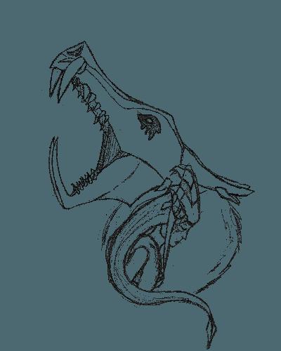 The Half Dragon Sketch Version T Shirt Teehunter Com