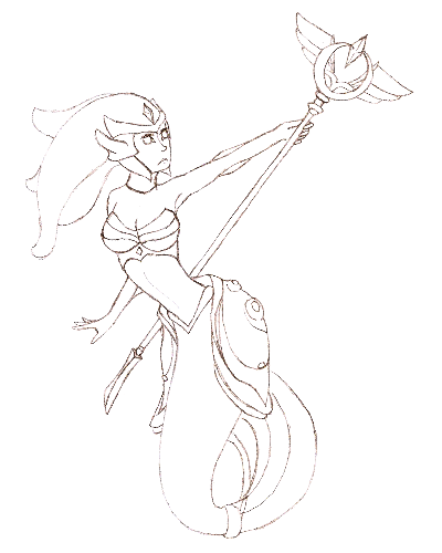 The Tidecaller – sketch version
