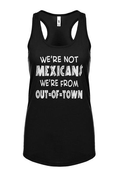 We're from Out of Town Womens Sleeveless Tank Top