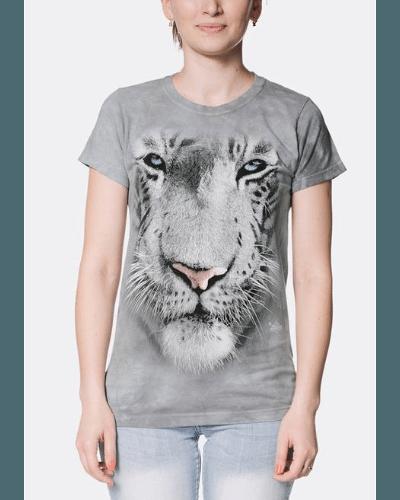 White Tiger Face Women's T-Shirt