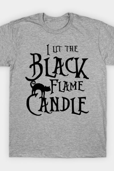 Black Flame Candle T-Shirt
