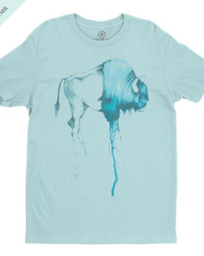 Buffalo Tee (Light Blue)