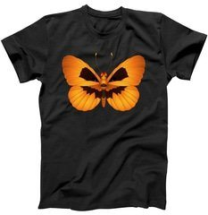 Butterfly With Face Halloween Pumpkin T-Shirt | TeeShirtPalace