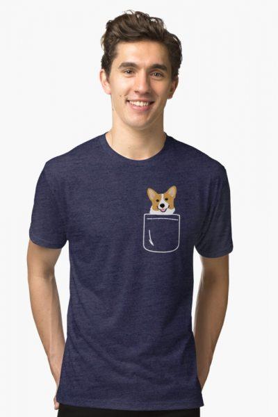 Corgi In Pocket Funny Cute Puppy Big Happy Smile