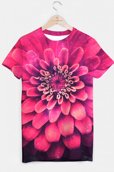 Flowers in Space T-shirt, Live Heroes