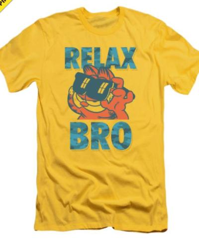 Garfield Relax Bro Premium Adult Slim Fit T-Shirt