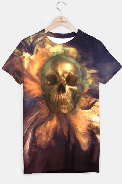 Gold Skull T-shirt, Live Heroes