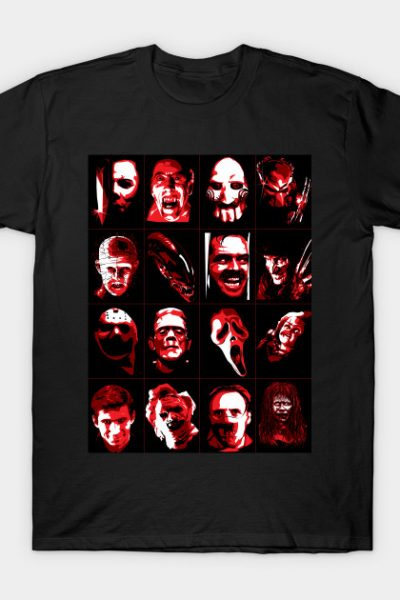 Halloween Horror Icons T-Shirt