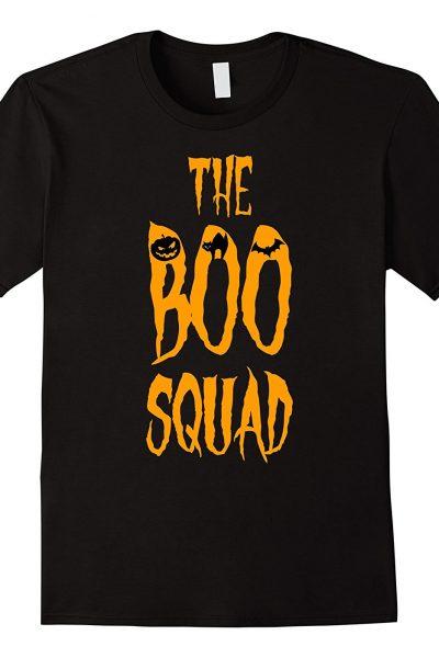 Halloween The Boo Squad Bat Pumpkin Black Cat