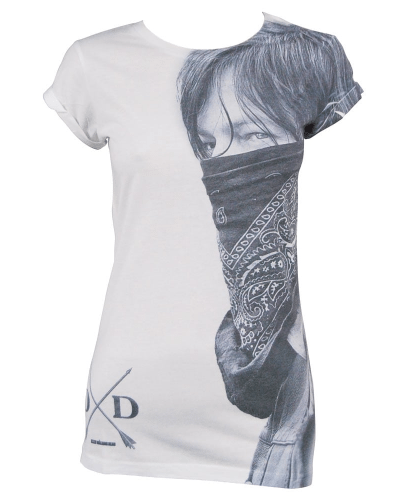 Ladies Daryl Dixon The Walking Dead Sublimation white T-shirt – Buy ladieswear From Honcho-SFX UK Store