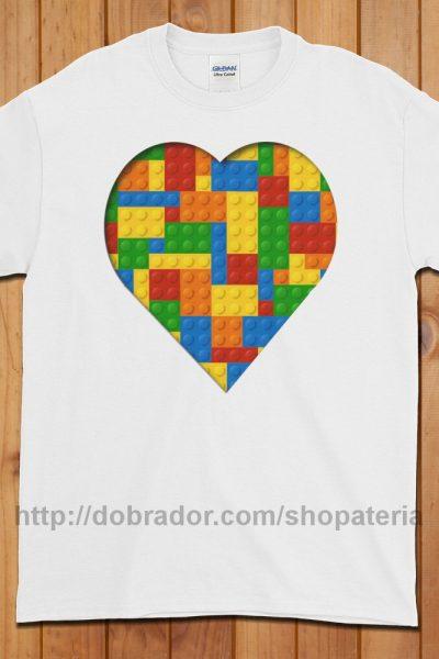 Lego Love T-Shirt (Unisex)   Dobrador Shopateria
