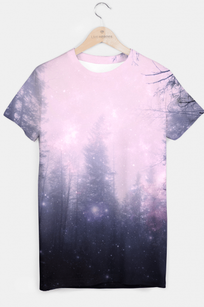 Misty Forest T-shirt, Live Heroes