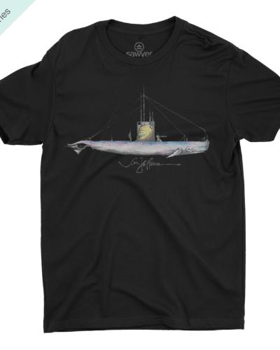 Nautical Whale Tee (Black)
