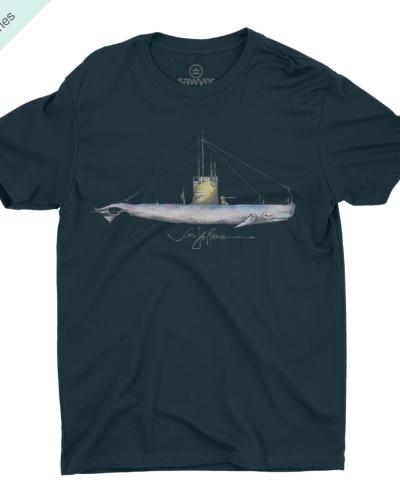 Nautical Whale Tee (Navy)