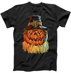 Scarecrow Pumpkin Halloween T-Shirt | TeeShirtPalace