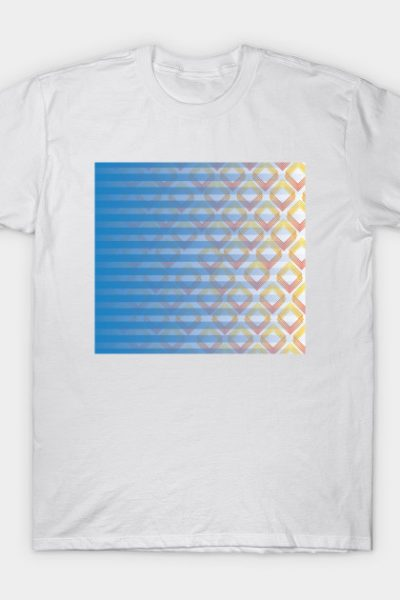 burning stripes and rectangles T-Shirt