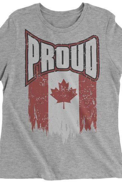 Canada Proud Womens T-shirt