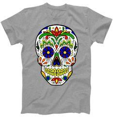 Day of the Dead Skull dia de los Muertos T-Shirt | TeeShirtPalace