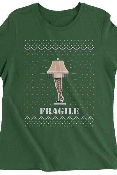 Fragile Leg Lamp Christmas Story Womens T-shirt