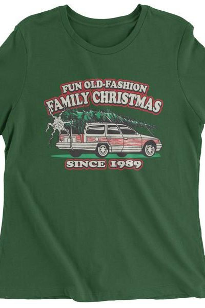 Fun Old Fashion Family Christmas  Womens T-shirt
