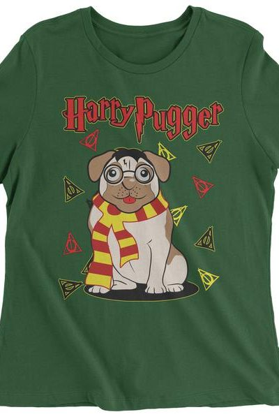 Harry Pugger Ugly Christmas Holiday  Womens T-shirt