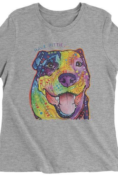 Have Pittie Neon Pitbull Womens T-shirt