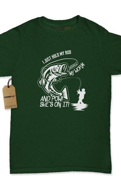 Hold My Rod Fishing Shirt Womens T-shirt