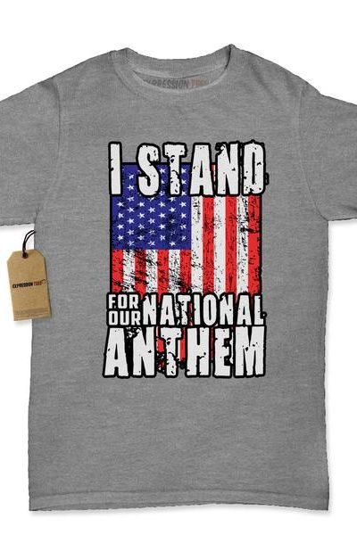 I Stand For Our National Anthem Womens T-shirt