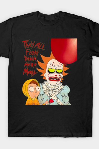 IT And Morty Pennywise Horror Parody T-Shirt