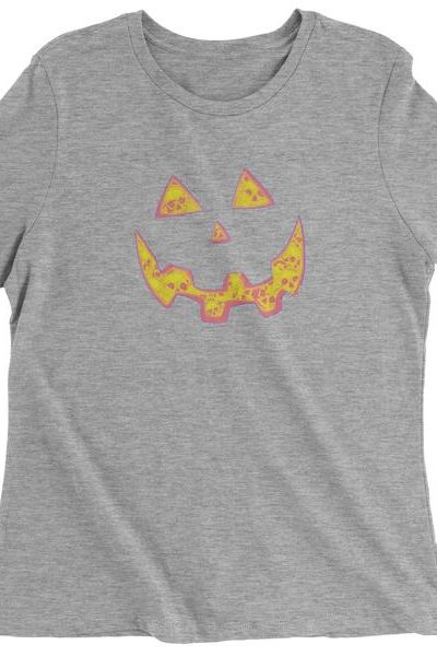 Jack O' Lantern Face with Skulls Womens T-shirt