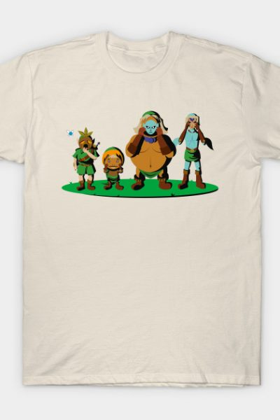 Link, Deku, Goron & Zora T-Shirt