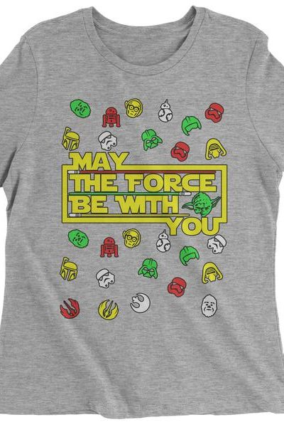 May The Force Be With You Ugly Christmas Womens T-shirt