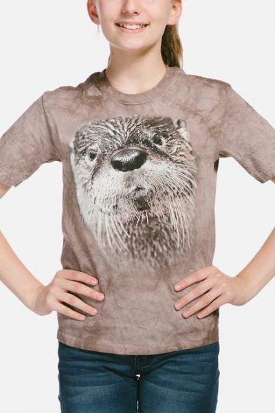 North American River Otter Kids T-Shirt