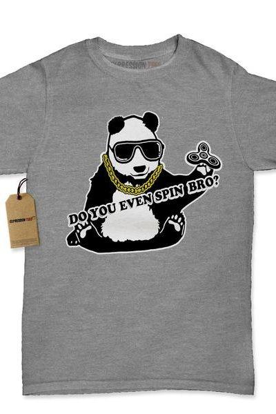 Panda Do You Even Spin Bro? Womens T-shirt
